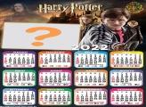 Calendário 2022 Harry Potter Editar Grátis