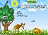 Convite de Animais da Selva
