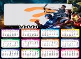 Montagem de Foto Grátis Calendário 2020 Vingadores