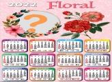 Calendário 2022 Floral Editar Online Grátis