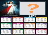 Calendário 2019 Jesus Iluminado