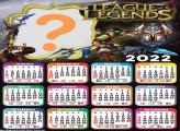 Calendário 2022 League Of Legends Editar Grátis