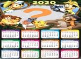 Colagem de Foto Calendário 2020 Mickey Safari