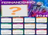 Calendário 2021 Fernandinho Foto Montagem Grátis