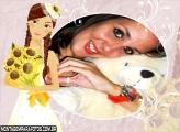 Noiva com Buquê Flores Amarelas