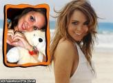 Moldura Atriz Lindsay Lohan