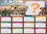 Calendário 2021 O Bom Dinossauro Montar Foto