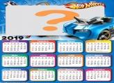 Calendário 2019 Hot Wheels Carro Azul