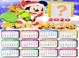 Calendário 2020 Mickey Noel Moldura Infantil