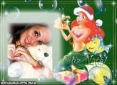 Moldura Ariel no Natal
