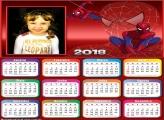 Calendário 2018 Teia do Homem Aranha