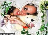 Coração com Pérolas e Flores