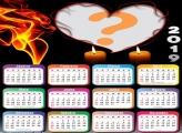 Calendário 2019 Coração de Fogo