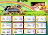 Calendário 2017 Arco Íris Fadas