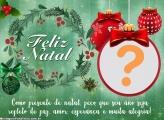 Mensagem Presente de Natal Moldura