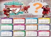 Calendário 2021 Liverpool Time de Futebol
