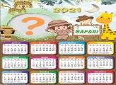 Calendário 2021 Infantil Safari para Meninas