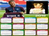 Calendário 2018 Neymar Paris Saint-Germain