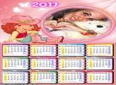Calendário 2017 Cowgirl Moranguinho