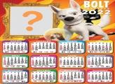 Calendário 2022 Bolt Super Cão para Foto Colagem
