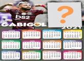 Fazer Montagem Calendário 2021 Gabigol do Flamengo