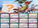Calendário 2022 Zootopia Colar Foto e Imprimir