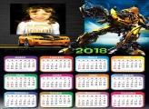 Calendário 2018 Transformers