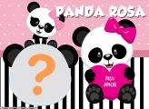 Panda Rosa Foto Montagem