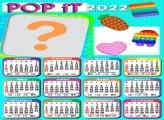 Calendário 2022 Pop iT Foto Colagem Grátis