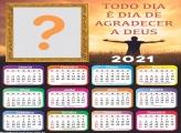 Calendário 2021 Gratidão Montagem Fotos Online