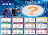 Calendário 2021 Frozen 2 Elsa Colagem de Foto