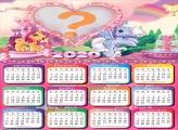 Calendário 2020 Ponny Colagem de Foto