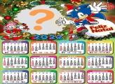 Calendário 2022 Feliz Natal Sonic Montagem