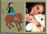 Moldura Peão e Cavalo Montaria