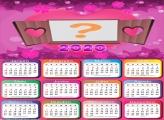 Calendário 2020 Romântico para Namorados