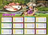 Calendário 2017 Rapunzel Enrolados