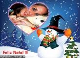 Moldura Boneca de Neve Natal
