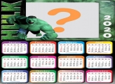 Calendário 2020 Hulk Máscara Digital