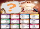 Calendário 2021 Jesus Misericordioso Foto Moldura