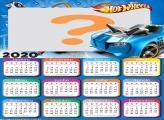 Calendário 2020 Hot Wheels Carro Azul