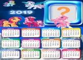 Calendário 2019 Póneis Desenho