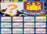 Calendário 2022 West Ham United Foto Moldura