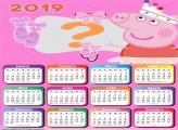 Calendário 2019 Peppa Pig Bailarina