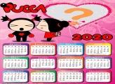 Calendário 2020 da Pucca Moldura