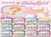 Calendário 2022 Baby Girl Montagem Gratuita