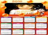 Calendário 2018 Dragon Ball Goku