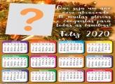 Calendário 2020 Ano Novo Abençoado