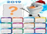 Calendário 2019 Olaf Feliz Natal