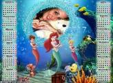 Calendário 2017 Sereias Disney Princesas