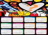 Moldura Calendário 2020 do Romero Britto